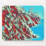 psychedelische Winterlandschaft Mousepads