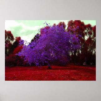 Psychedelischer Baum Plakatdruck