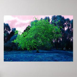 Psychedelischer Baum Posterdruck