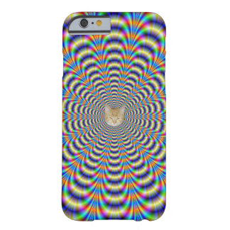 Psychedelischer beringter Impuls + oder - Katze Barely There iPhone 6 Hülle