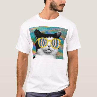 PSYCHEDELISCHER CAT MIT SONNENBRILLE T-Shirt