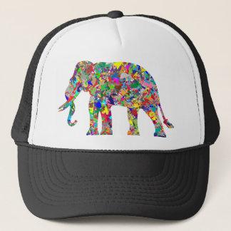 Psychedelischer Elefant Truckerkappe