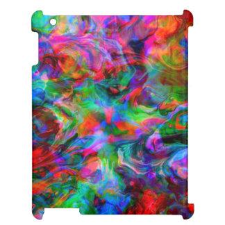 Psychedelischer Farbstrudel iPad Hülle