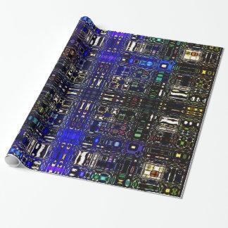 Psychedelischer Fleck-helle Verpackung Papier-Blau Geschenkpapier