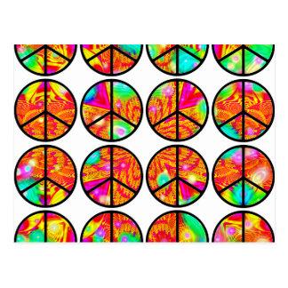 psychedelischer Frieden 4x4 Postkarte