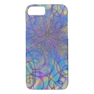 Psychedelischer lila rosa Stern-abstrakter iPhone 8/7 Hülle