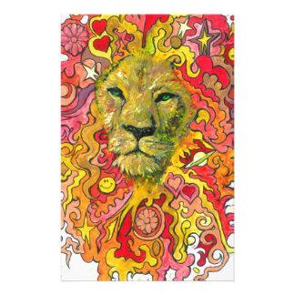 Psychedelischer Löwe Briefpapier