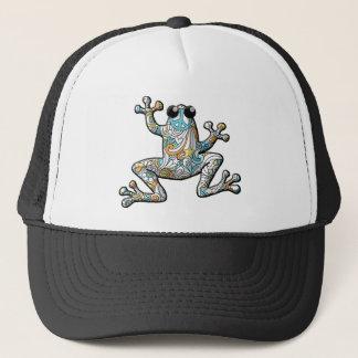 Psychedelischer Paisley-Frosch Truckerkappe