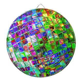 Psychedelischer Planeten-Disco-Ball Dartscheibe