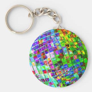 Psychedelischer Planeten-Disco-Ball Schlüsselanhänger