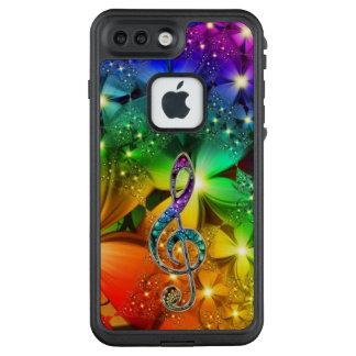 Psychedelischer Regenbogen-Fraktal-MusikClef LifeProof FRÄ' iPhone 8 Plus/7 Plus Hülle