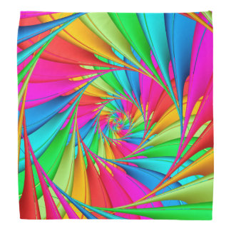 Psychedelischer Regenbogen-SpiraleBandana Kopftuch