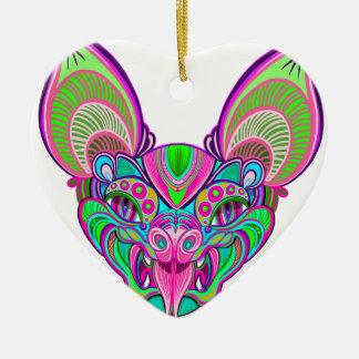 Psychedelischer Regenbogenschläger Keramik Ornament