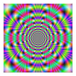 Psychedelischer Ring-Foto-Druck Fotodruck