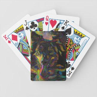 Psychedelischer Schäfer Bicycle Spielkarten