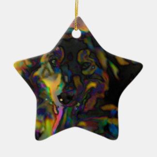 Psychedelischer Schäfer Keramik Ornament