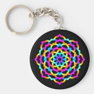 Psychedelischer Schlüsselbund Mandala Multicolore Schlüsselanhänger