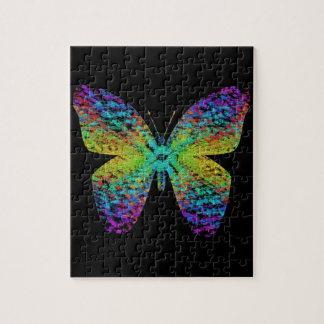 Psychedelischer Schmetterling Puzzle