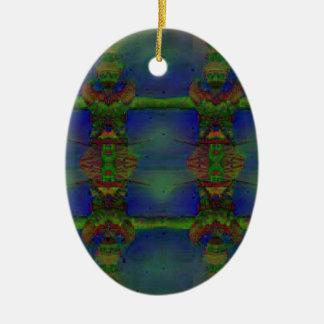 Psychedelischer Schutz Ovales Keramik Ornament