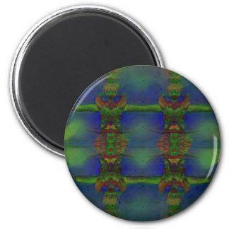 Psychedelischer Schutz Runder Magnet 5,7 Cm