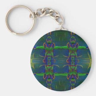 Psychedelischer Schutz Schlüsselanhänger