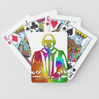 Psychedelischer Shakespeare Bicycle Spielkarten