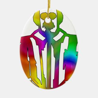 Psychedelischer Shakespeare Ovales Keramik Ornament