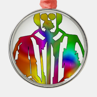 Psychedelischer Shakespeare Rundes Silberfarbenes Ornament
