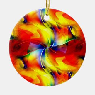 Psychedelischer Sonnenaufgang Keramik Ornament