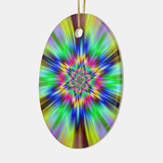 Psychedelischer Stern Keramik Ornament