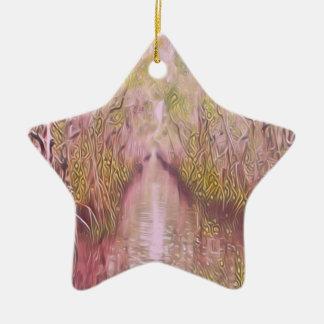 Psychedelischer Sumpf Keramik Ornament