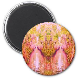 Psychedelischer Sumpf Runder Magnet 5,1 Cm