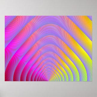 Psychedelischer Tunnel-Druck Poster