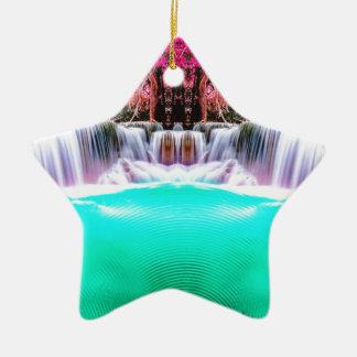 Psychedelischer Wasserfall Keramik Ornament