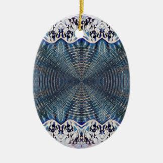 Psychedelischer Winter Keramik Ornament
