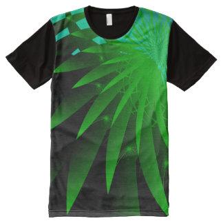 Psychedelisches abstraktes feines Fraktal der T-Shirt Mit Bedruckbarer Vorderseite