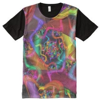 Psychedelisches abstraktes feines Fraktal des T-Shirt Mit Bedruckbarer Vorderseite