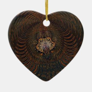 Psychedelisches Atom Keramik Herz-Ornament