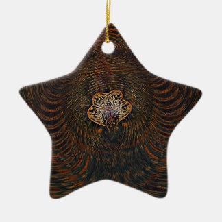 Psychedelisches Atom Keramik Stern-Ornament