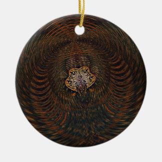 Psychedelisches Atom Rundes Keramik Ornament
