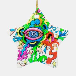 Psychedelisches Auge Keramik Ornament
