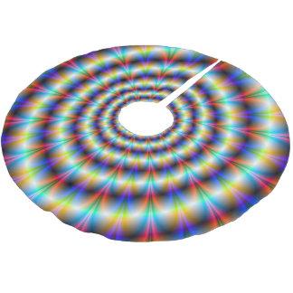 Psychedelisches Auge Polyester Weihnachtsbaumdecke