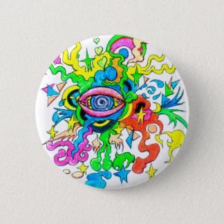 Psychedelisches Auge Runder Button 5,7 Cm