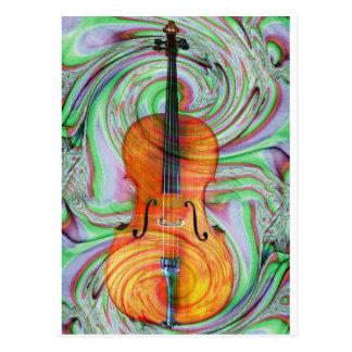 Psychedelisches Cello Postkarte