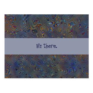 Psychedelisches Chaos abstrakt Postkarten