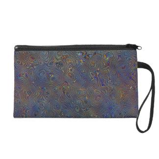 Psychedelisches Chaos abstrakt Wristlet Handtasche
