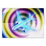 Psychedelisches Flugzeug Grußkarten