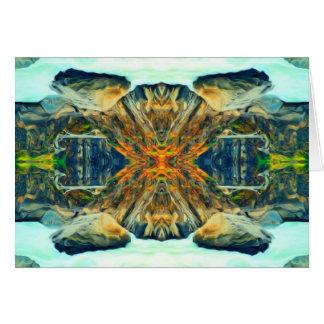 Psychedelisches Gebirgszug-Malerei-Muster Karte
