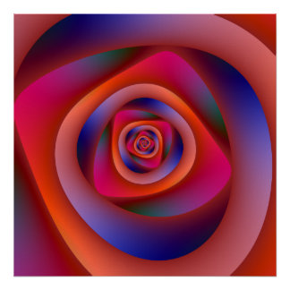Psychedelisches gewundenes Labyrinth-Plakat Poster
