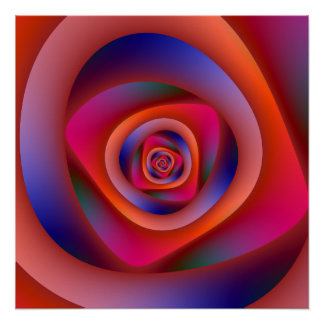 Psychedelisches gewundenes Labyrinth Zazzle Poster